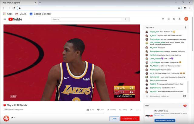 画面右下のメニューから「Join This Game」をクリックすれば、配信者のゲームにYouTubeから直接参加できる