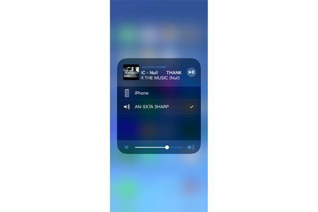 Bluetooth対応スマートフォンでももちろん楽しめる(画面はiPhone)