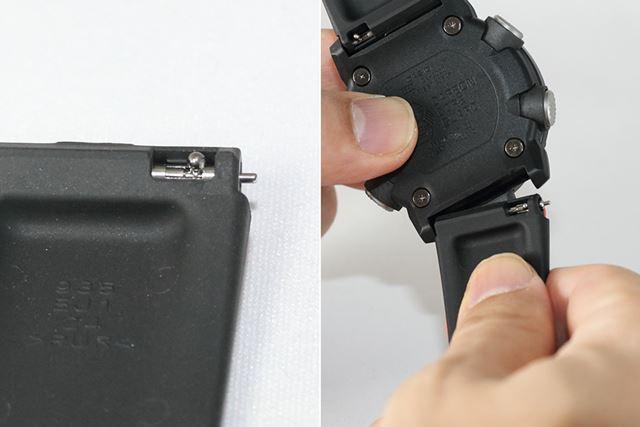 専門工具は必要なく、スライドレバーを操作するだけで着脱可能