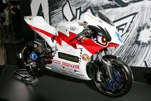 今年のレースで6連覇を狙う「神電」シリーズの最新モデルも展示されていた