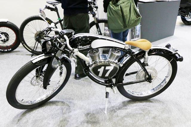 クラシックバイクのようなデザインだが、中身は電動というギャップがおもしろい
