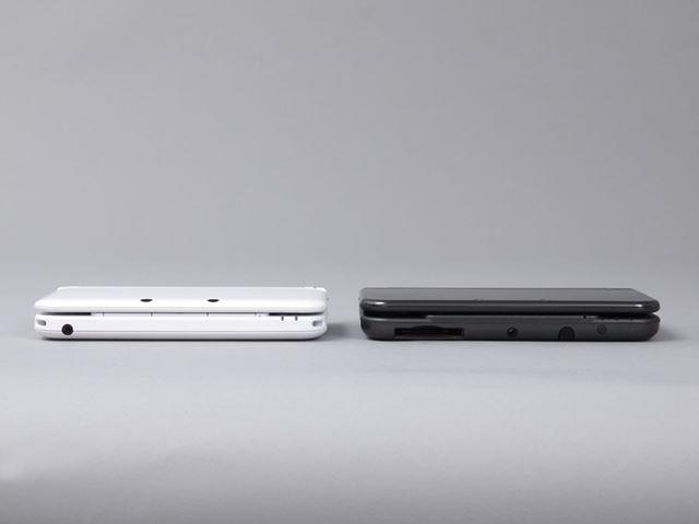 左側が3DS LLで右側がNew3DS LL。目立った違いはそれほどないので、ぱっと見ただけでは区別がつきづらい