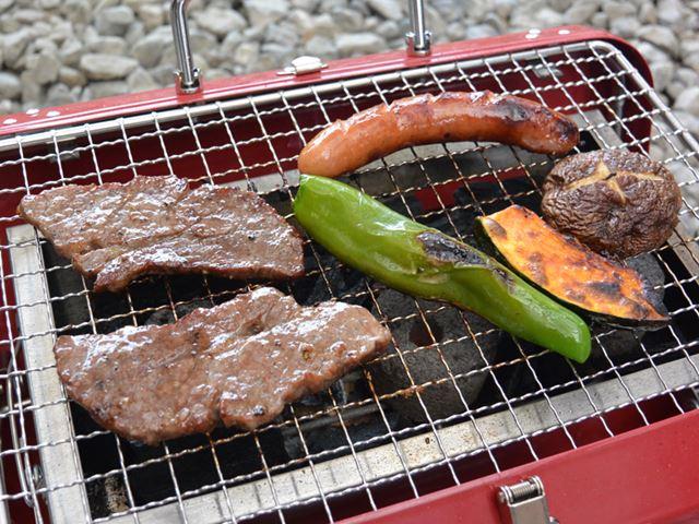 野菜が焼けるまでにかかった時間は、約8分