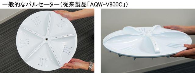 一般的なパルセーター(従来製品「AQW-V800C」)。「