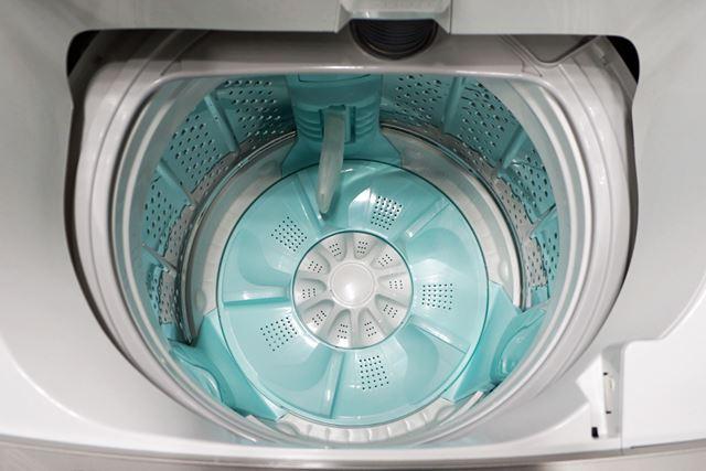 洗濯槽内にある緑色のパーツ(パルセーター含む)には、抗菌加工が施されている