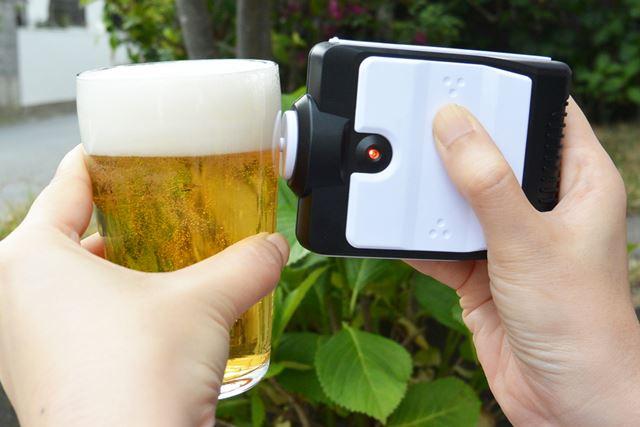 泡立っていなかったビールも、タカラトミーアーツ「ソニックアワーポータブル」があればこんなふうに!
