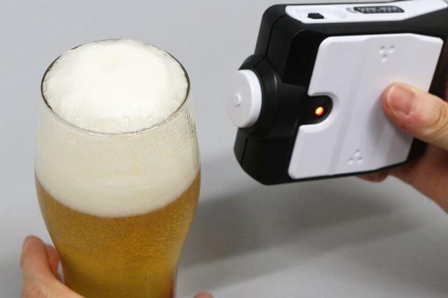 見るからにクーッと飲みたくなるようなビールが完成!