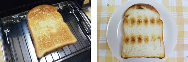トーストの焼きあがり