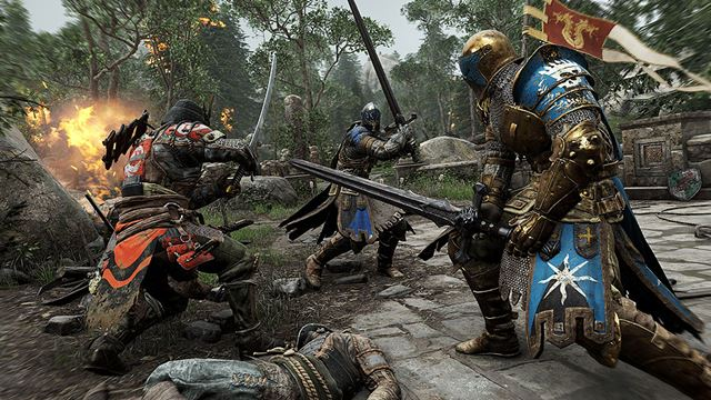 4対4のチーム戦で戦うアクションゲーム「For Honor」は、PS4用タイトルとして登場