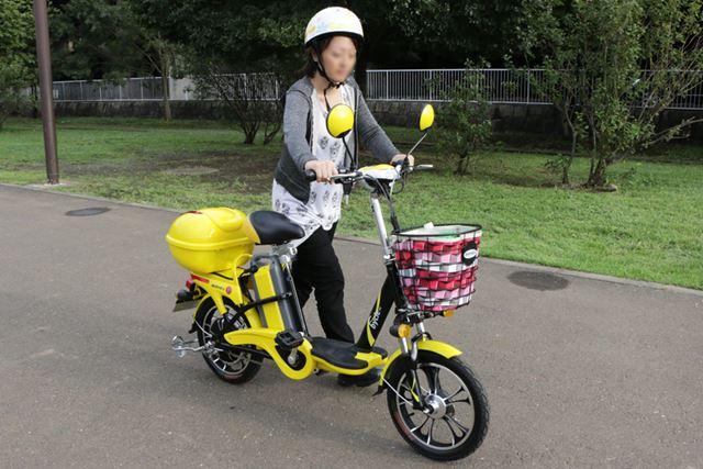 バッテリーを含めた重量が36kgなので、バイクを押すのも比較的ラクにできる