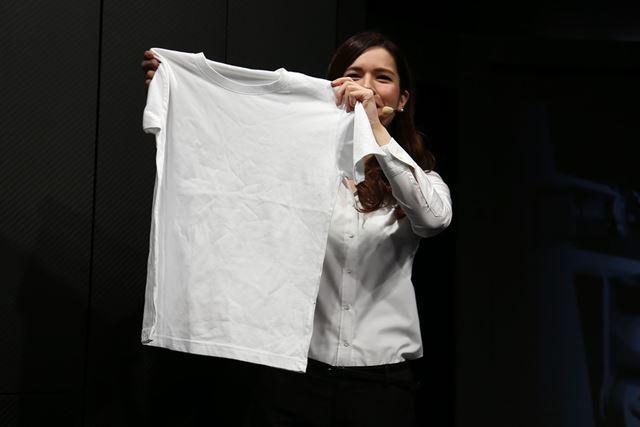 投入前のTシャツ