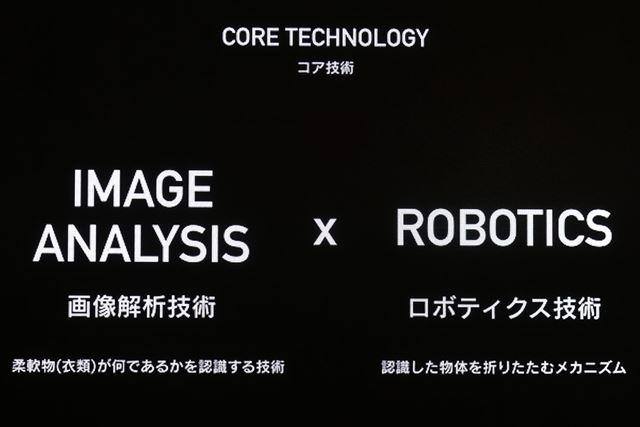 画像解析技術とロボティクス技術の2つのコア技術