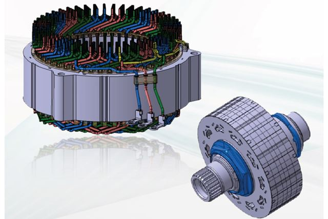 出力はそのままだが、巻き線を最適化することでモーターが小型化されている