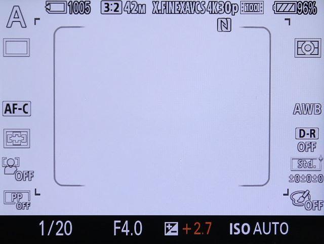 中央の枠の中が位相差AFに対応するエリア。撮像エリアの45%をカバーする