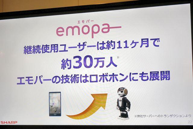 来年発売のRoBoHoNにemopaの技術が搭載されるようで、いろいろなことをたくさん喋ることになりそう