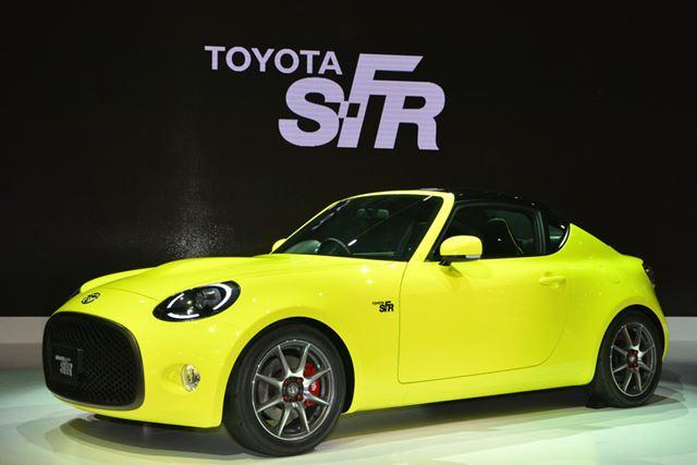 大きく開いたフロントグリルに愛嬌のあるFRスポーツカーの「S-FR」。量産化も噂されている