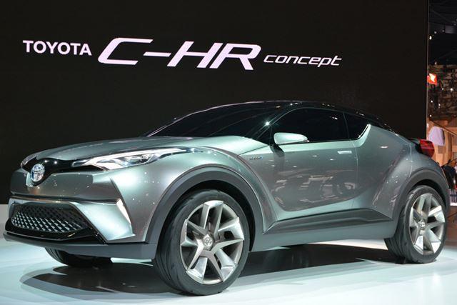 クロスオーバーの「C-HRコンセプト」。こちらは来年に量産される