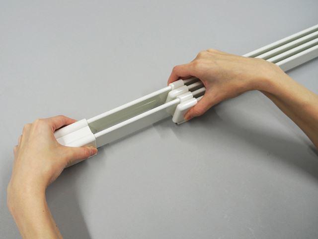120〜190cmの間で長さを調整可能