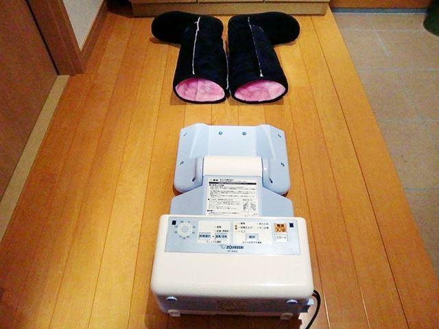 布団乾燥する際の形にすれば、ブーツにも利用できる