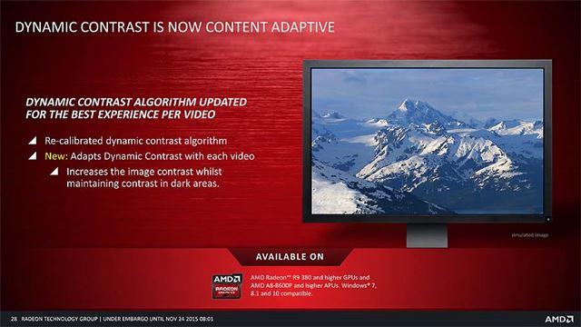 ビデオごとに適したコントラストを設定できる。