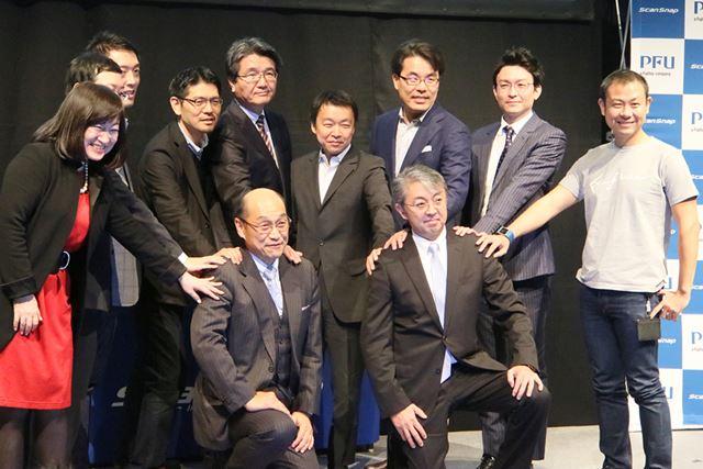 発表会には連携するクラウドサービス9社の代表者が登壇した