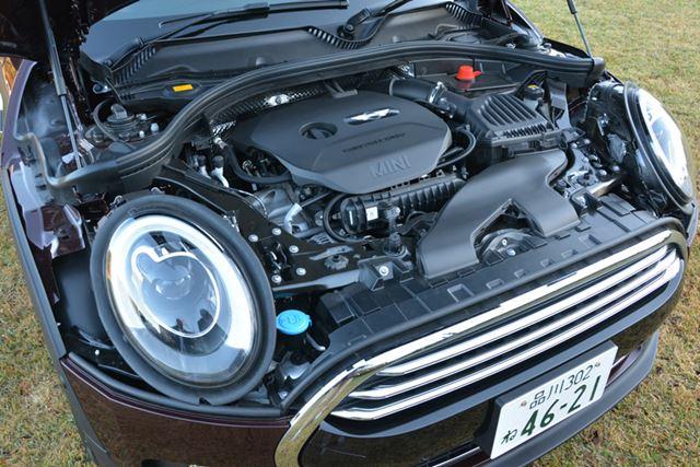 今回検証したのは1.5リッター3気筒ターボエンジンを備えるベーシックモデルのMINIクーパー・クラブマン