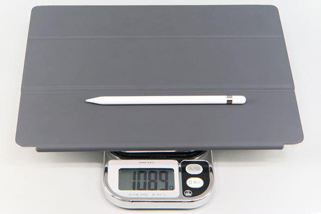 iPad Pro、Apple Pencil、Smart Keyboardを合計すると1kgを超えてしまう