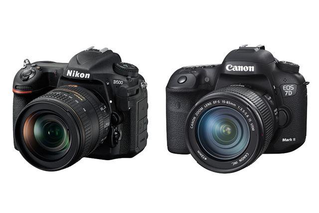 ニコン「D500」(左)、キヤノン「EOS 7D Mark II」(右)