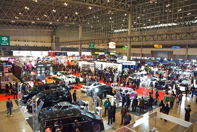 チューニングショップから、国内および国外の主要な自動車メーカー、大手サプライヤーまでが参加する