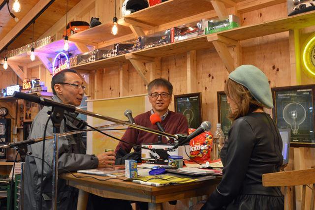 トヨタ86をフューチャーしたブース「86 My Garage」では開発担当の多田氏がトークショーを開催