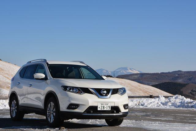 最新モデルのエクストレイル ハイブリッド 20Xエマージェンシーブレーキパッケージ 4WDを雪上で試した