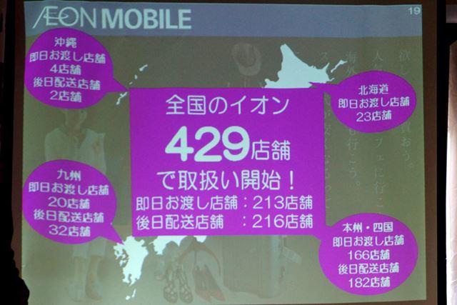 北は北海道、南は沖縄までのイオン各店で一斉に取り扱いが開始される
