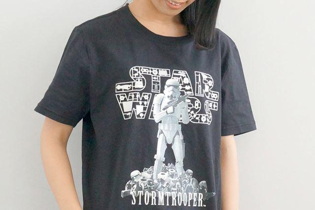 こちらは「STAR WARS 1/12 scale STORMTROOPER柄 Tシャツ」