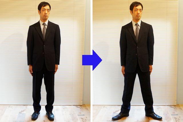 1.足を少し大きく広げて立つ。つり革やポールにはつかまらず、揺れに耐えよう