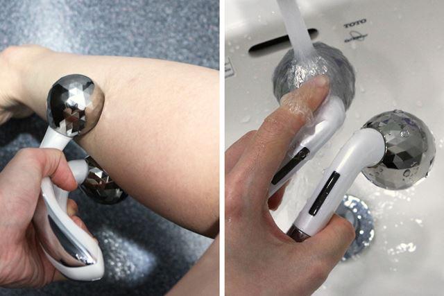 顔からつま先まで全身に使えます。JIS(IPX7相当)の防水仕様なので、水洗いや入浴中のケアも可能