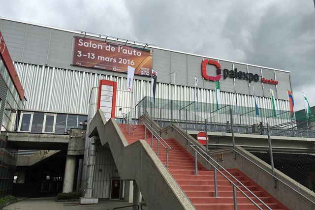 開催場所のパルエキスポ・コンベンションセンターは、ジュネーブ空港に隣接。規模はそれほど大きくはない
