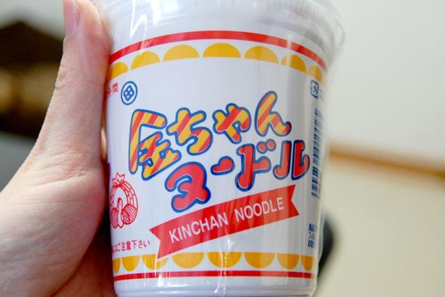 スタンダードな「金ちゃんヌードル」を食べます。内容量は85g(麺72g)