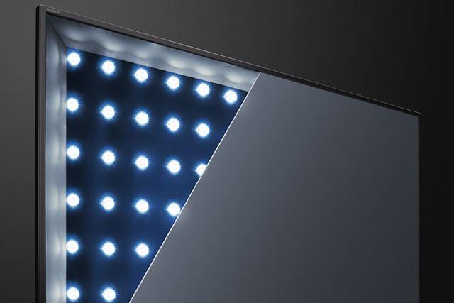 東芝の4K液晶テレビの特徴でもある全面直下(直下型)LEDバックライトを採用