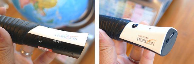 ペンには電源ボタンと音量ボタンがありアップデート用のマイクロUSB端子がある
