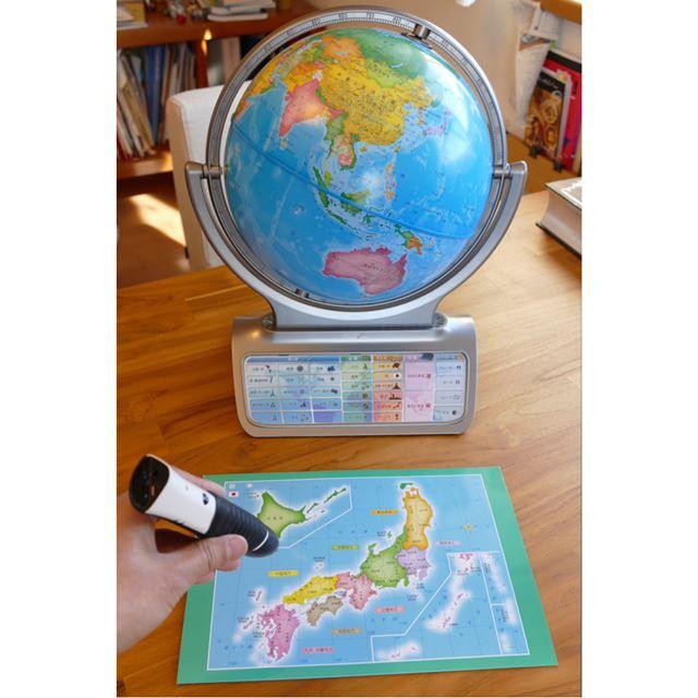 付属の日本地図のシートでは、都道府県単位でタッチ可能
