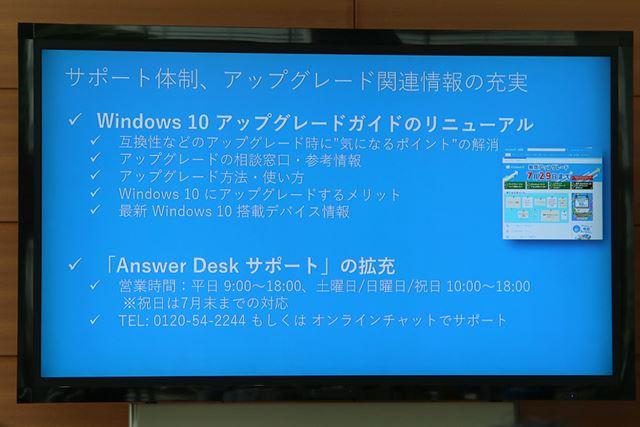 Answer Deskサポートは祝日も電話での相談を受け付けているので、5月の大型連休中も利用できる