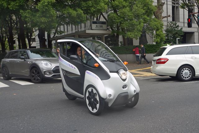 まだ市販はされていないスマートモビリティi-ROADを路上で運転できるTimes Car PLUS × Ha:moを体験した