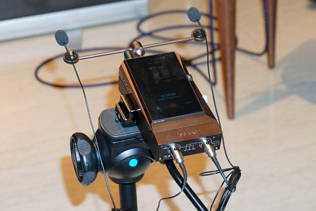 AKシリーズ専用のポータブルレコーダーユニット「AK RECORDER」。これ1台で本格的なレコーディングが可能だ