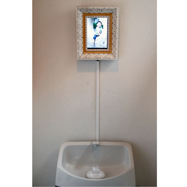 AndroidのNexus7は額装してトイレに設置してみました