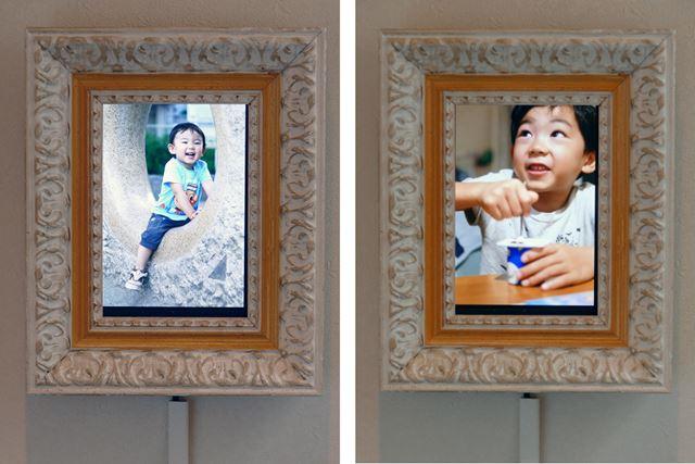 縦の写真だけをアルバムにしてスライドショーに。7インチタブレットは、ポートレート写真がよく似合う!