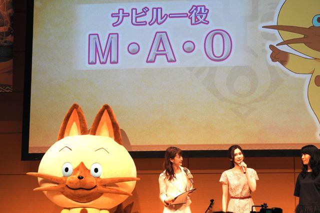 ナビルー役のM・A・Oさん(中央)と制作統括のフジテレビ松崎氏(右)