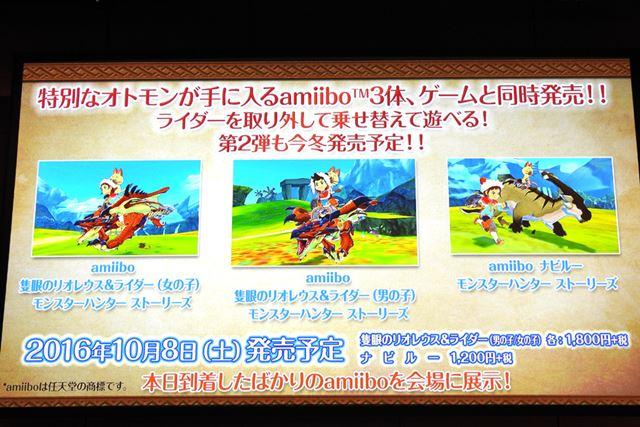 オリジナルフィギュア「amiibo」3体が2016年10月8日より発売される