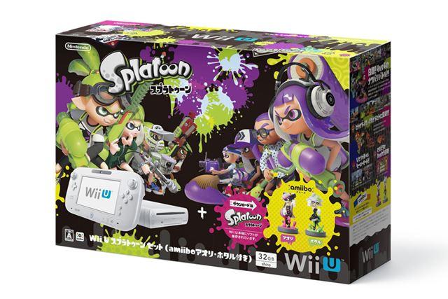 Wii U スプラトゥーン セット(amiibo アオリ・ホタル付き)(表)