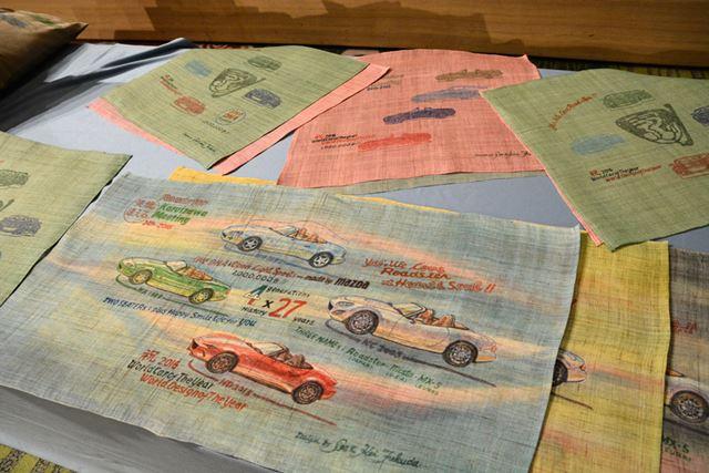 「ウェルカムパーティー」では、マツダの元デザイン本部長の福田夫妻による手作りの記念品が用意された