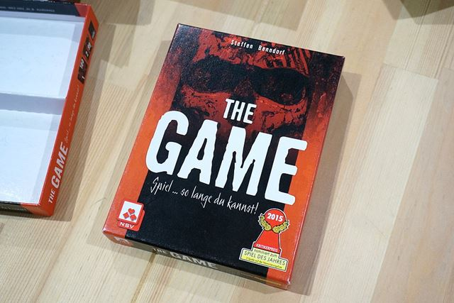 「THE GAME」のパッケージです。2015年のゲーム大賞にもノミネートされています